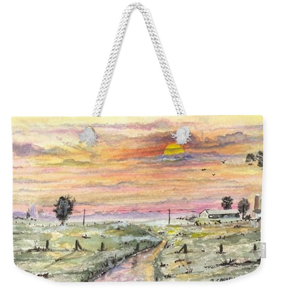 Elevator In The Sunset Weekender Tote Bag