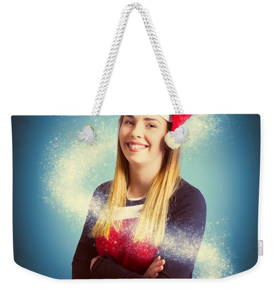 Elf Wrapped Up In The Magic Of Christmas Weekender Tote Bag