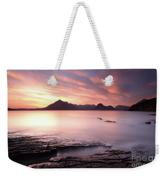 Elgol Sunset Weekender Tote Bag