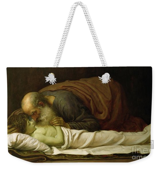 Elisha Raising The Son Of The Shunamite Weekender Tote Bag