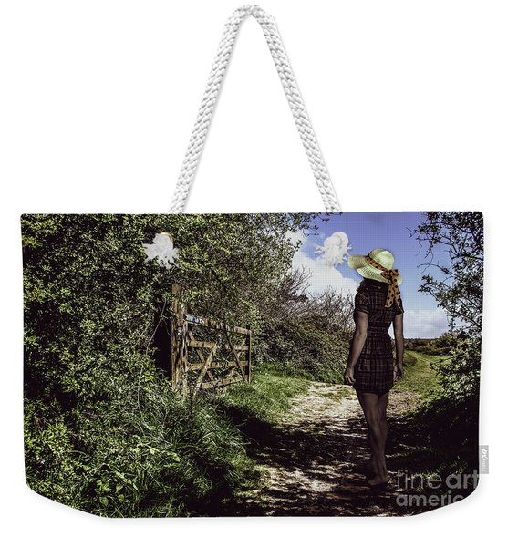 Eliza's Walk In The Countryside. Weekender Tote Bag