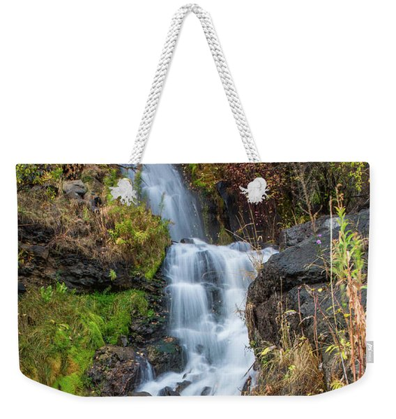 Elk Creek Waterfall Waterscape Art By Kaylyn Franks Weekender Tote Bag