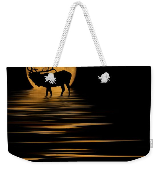 Elk In The Moonlight Weekender Tote Bag