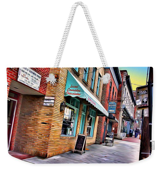 Ellicott City Shops Weekender Tote Bag