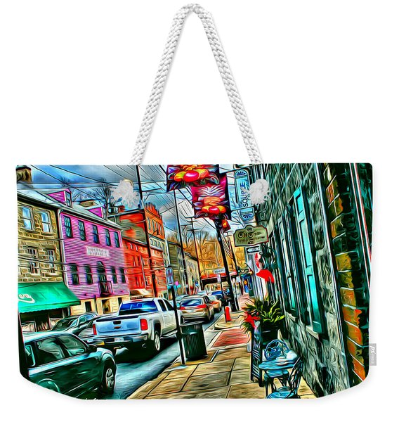 Ellicott City Street Weekender Tote Bag