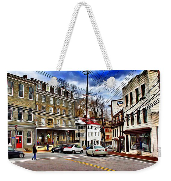 Ellicott City Streets Weekender Tote Bag