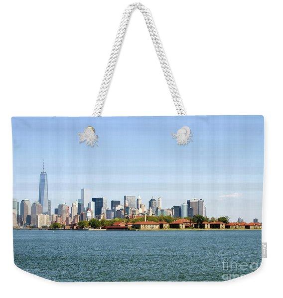 Ellis Island New York City Weekender Tote Bag