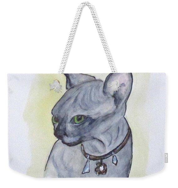 Else The Sphynx Kitten Weekender Tote Bag