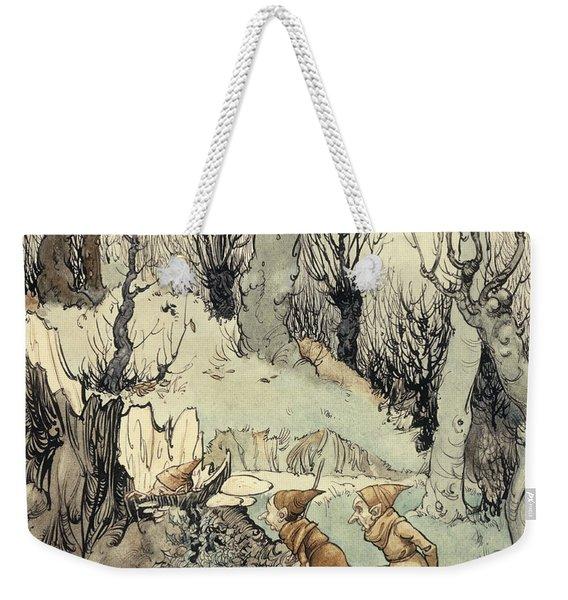 Elves In A Wood Weekender Tote Bag