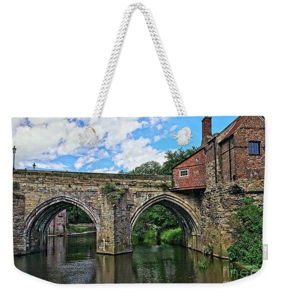 Elvet Bridge, Durham City, England Weekender Tote Bag