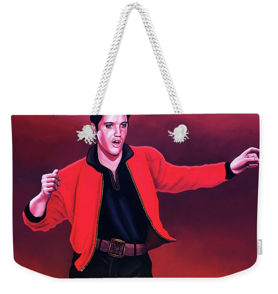 Elvis Presley 4 Painting Weekender Tote Bag