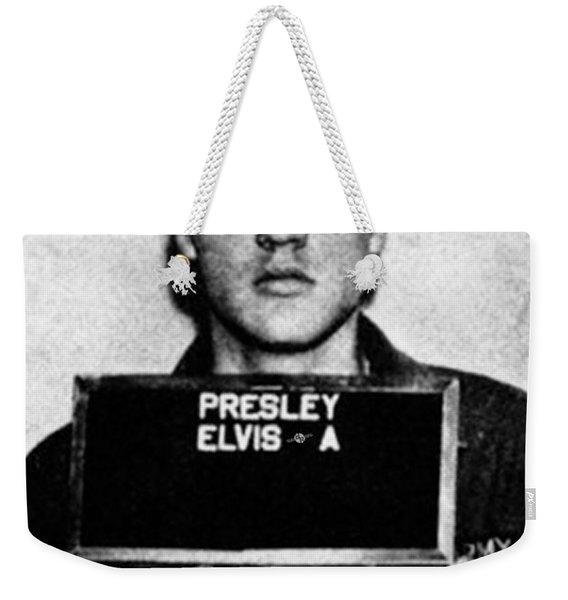 Elvis Presley Mug Shot Vertical 1 Weekender Tote Bag