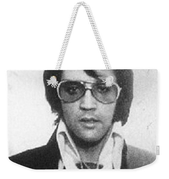 Elvis Presley Mug Shot Vertical Weekender Tote Bag