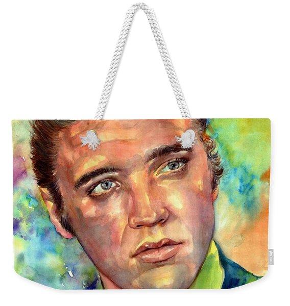 Elvis Presley Watercolor Weekender Tote Bag
