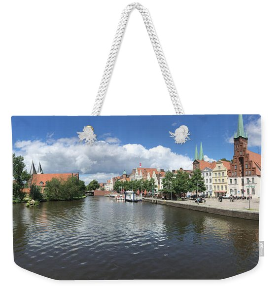 Embankment Of Trave In Luebeck Weekender Tote Bag