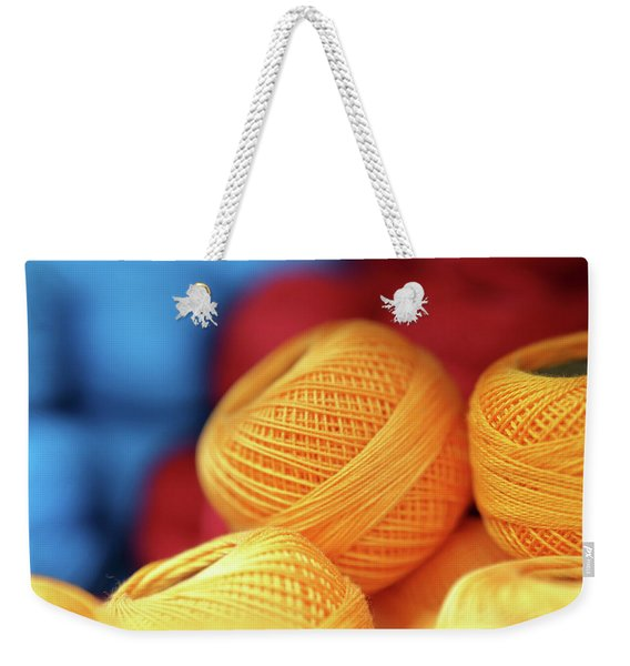 Embroidery Yarn Weekender Tote Bag
