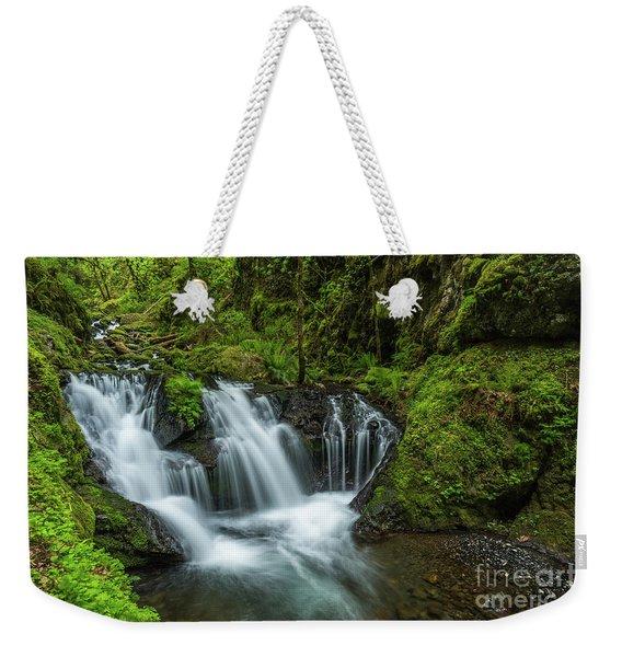 Emeral Falls Waterscape Art By Kaylyn Franks Weekender Tote Bag