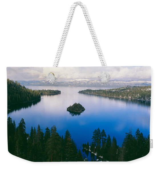 Emerald Bay At Lake Tahoe In Winter Weekender Tote Bag
