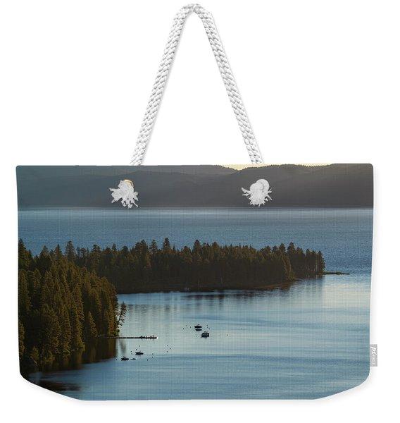 Emerald Bay Channel Weekender Tote Bag
