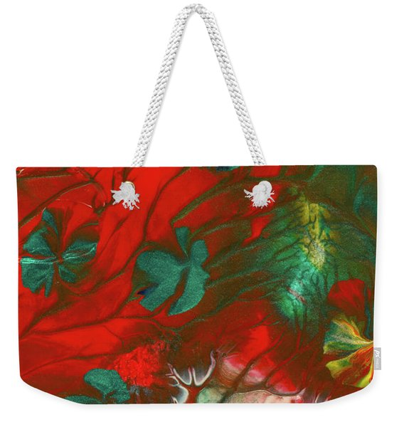Emerald Butterfly Island Weekender Tote Bag