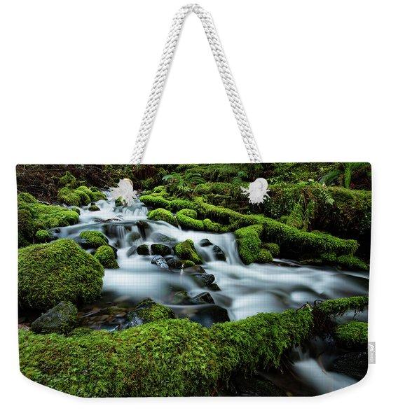 Emerald Flow Weekender Tote Bag