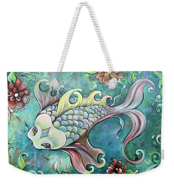 Emerald Koi Weekender Tote Bag