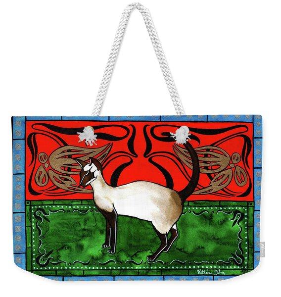 Emerald Meets Siamese Weekender Tote Bag