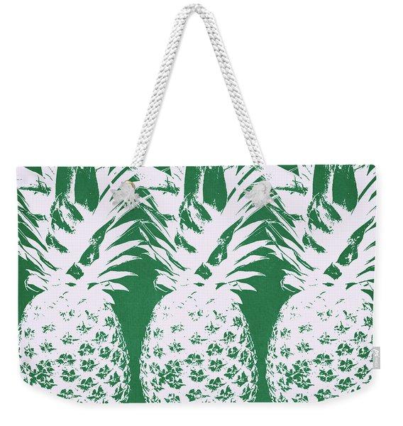 Emerald Pineapples- Art By Linda Woods Weekender Tote Bag