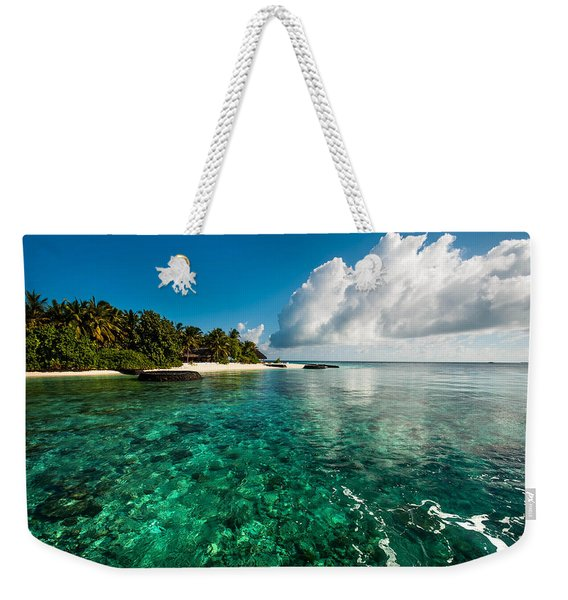 Emerald Purity. Maldives Weekender Tote Bag