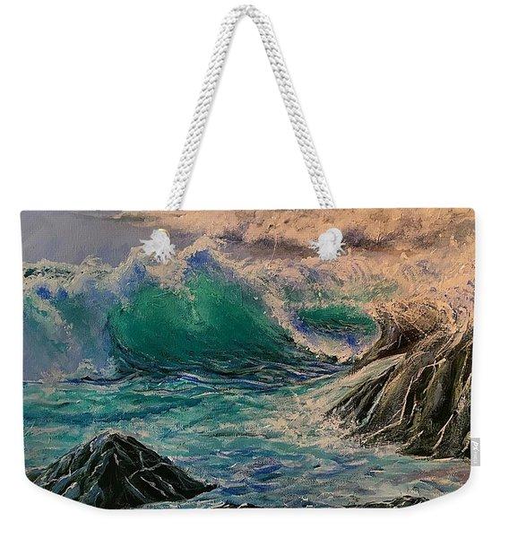 Emerald Sea Weekender Tote Bag