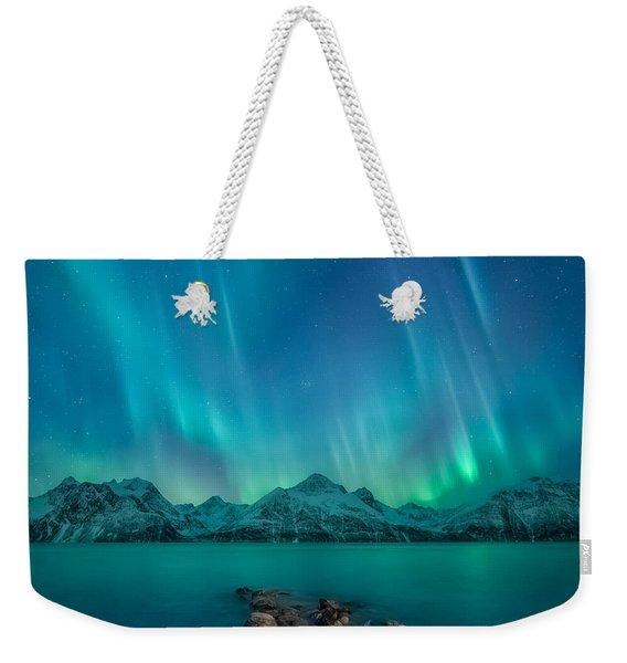 Emerald Sky Weekender Tote Bag