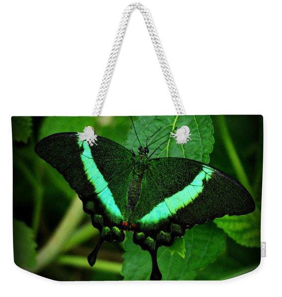 Emerald Swallowtail Weekender Tote Bag