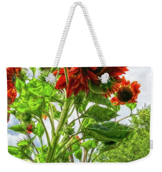 Emeralds And Fire Weekender Tote Bag
