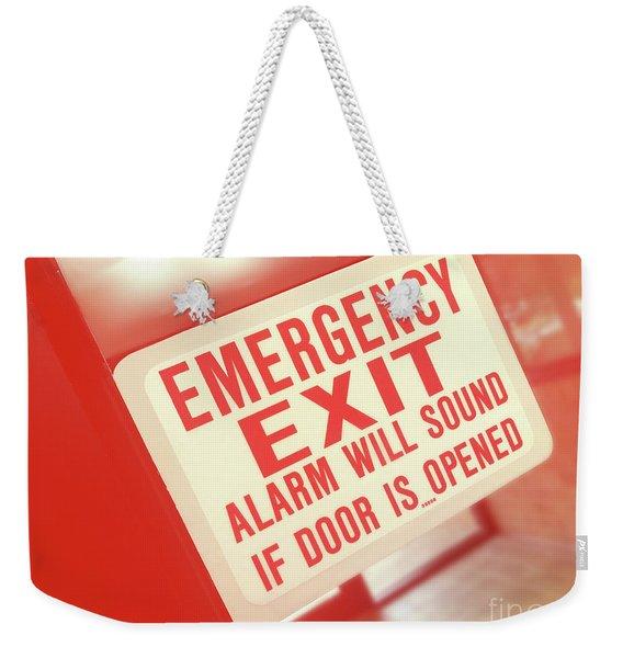 Emergency Weekender Tote Bag