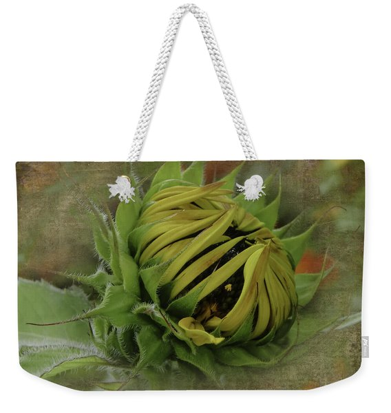 Emerging Sunflower Weekender Tote Bag