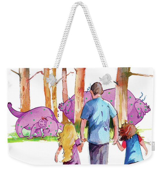 Emilia And Evelyn's Squizit Visit Weekender Tote Bag