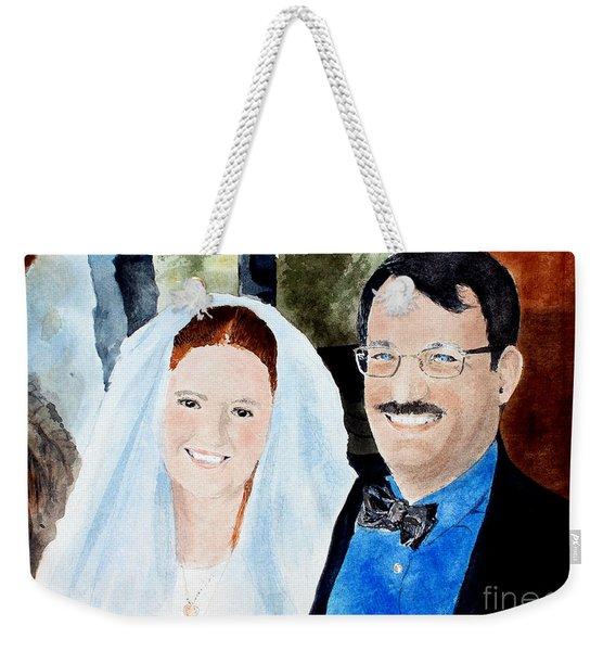 Emily And Jason Weekender Tote Bag