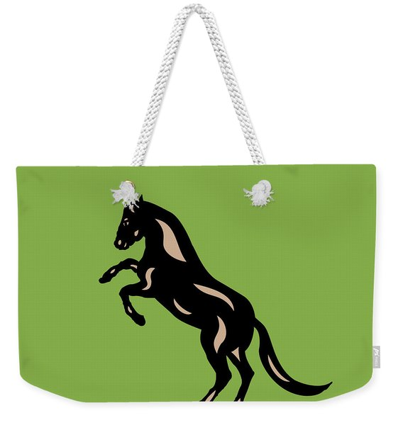 Emma - Pop Art Horse - Black, Hazelnut, Greenery Weekender Tote Bag