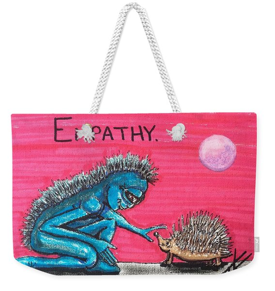 Empathetic Alien Weekender Tote Bag