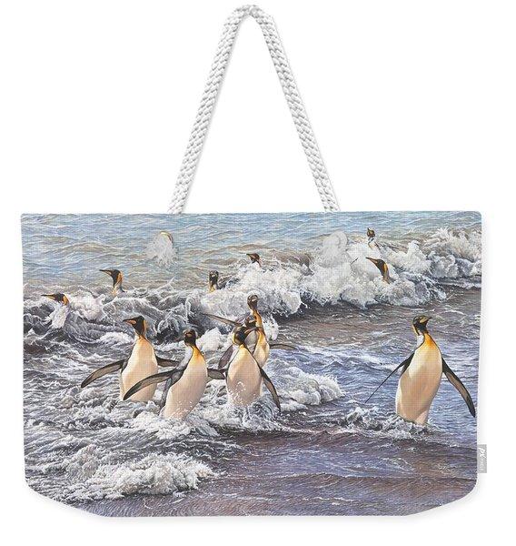 Emperor Penguins Weekender Tote Bag