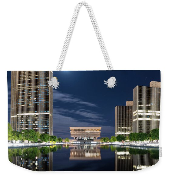 Empire State Plaza Weekender Tote Bag