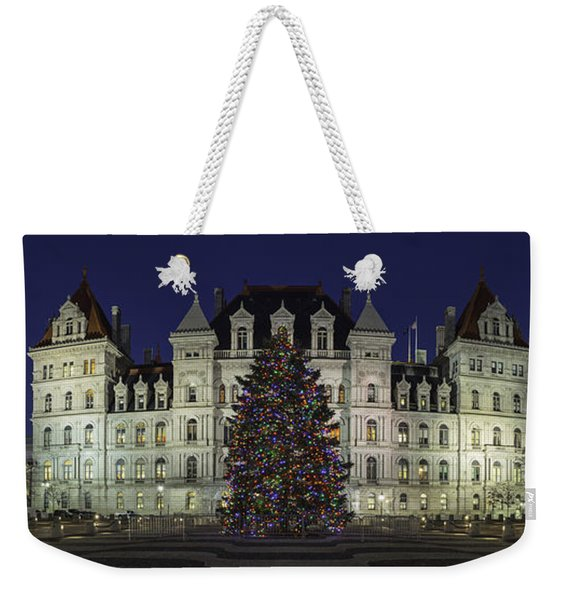 Empire State Plaza Holiday Weekender Tote Bag