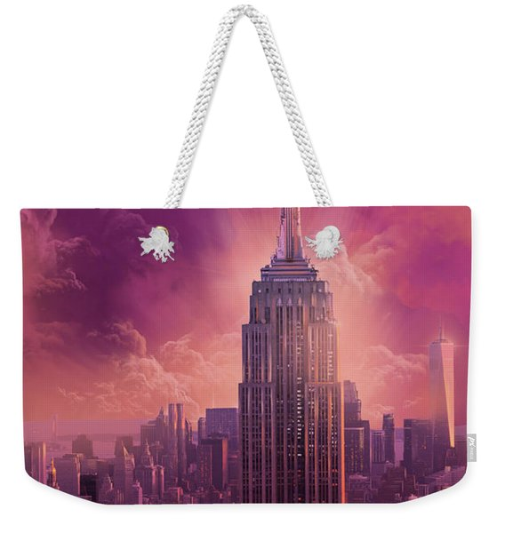 Empire State Building Sunset Weekender Tote Bag