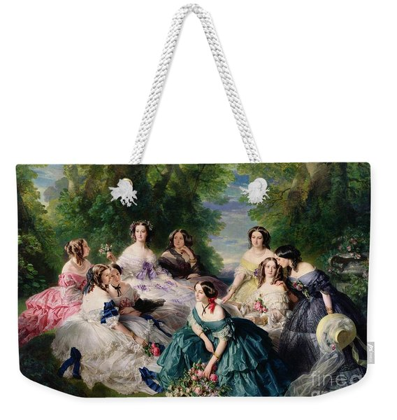 Empress Eugenie Surrounded By Her Ladies In Waiting Weekender Tote Bag