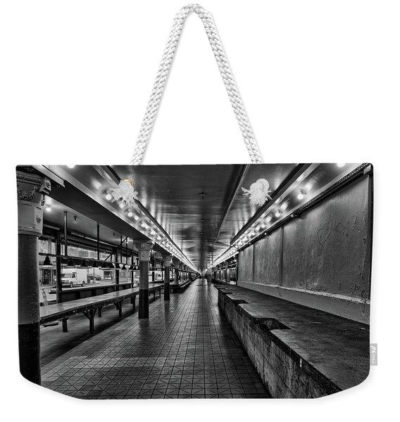 Empty Pike Place Market In Seattle Weekender Tote Bag
