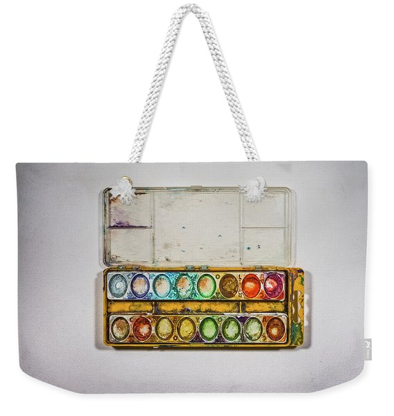 Empty Watercolor Paint Trays Weekender Tote Bag