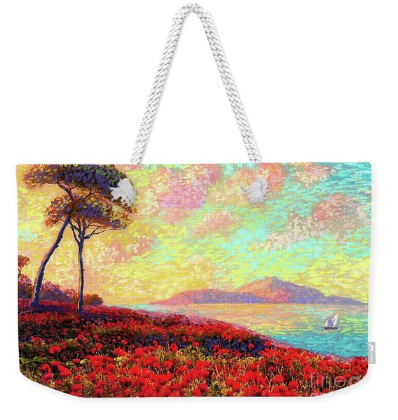 Enchanted By Poppies Weekender Tote Bag