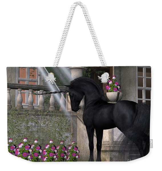 Enchanted Dark Unicorn Weekender Tote Bag
