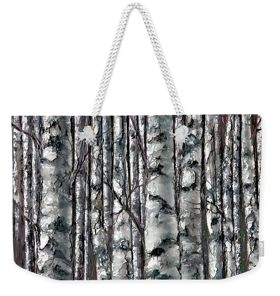 Enchanted Forest -black And White Weekender Tote Bag
