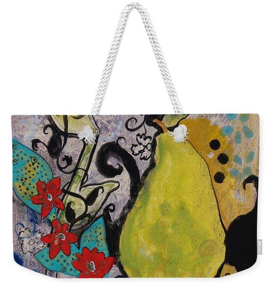 Enchanted Pear Weekender Tote Bag